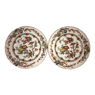 Mid 19th Century Antique Wedgwood Floral Plate - a Pair For Sale