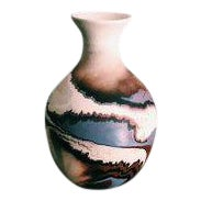Vintage Nemadji Pottery Vase For Sale