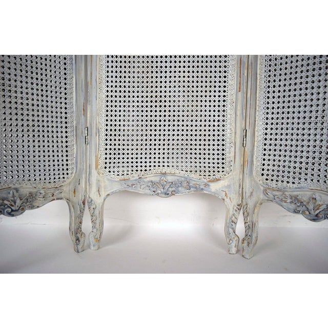 French Louis XV Style Three Panel Screen Divider - Image 6 of 7