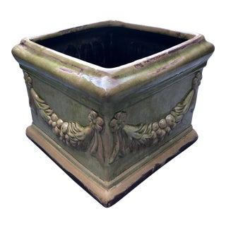 Della Robbia Ceramic Planter For Sale