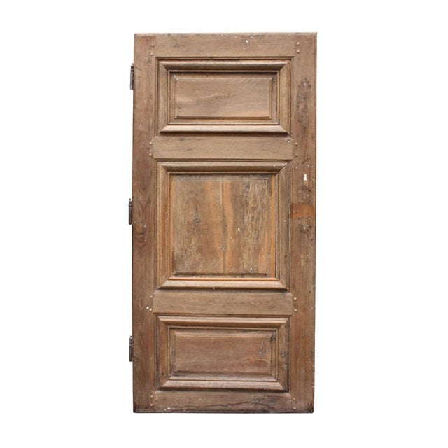 Circa 1800 Rustic Walnut French Door For Sale - Image 4 of 4
