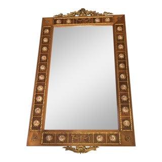 1930 Antique Limoge Medallion Mirror For Sale