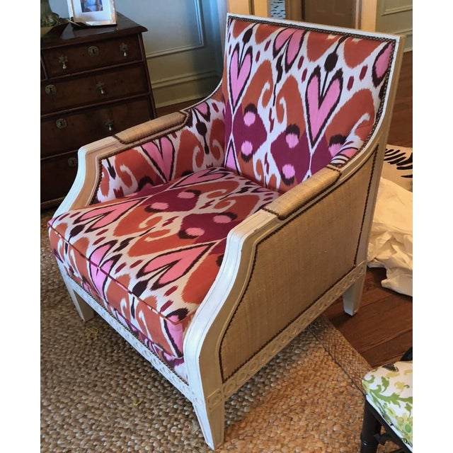 French Ikat Upholstered Oly Studio Tobias Chair Set For Sale - Image 3 of 9