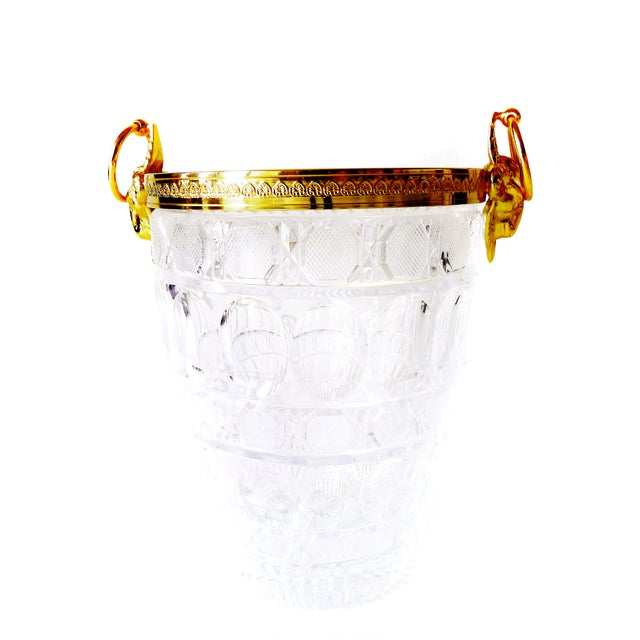 Gold-Plated Crystal Wine Holder - Image 1 of 2