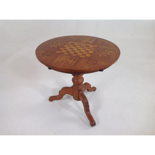 Antique Dutch Marquetry Tea Table - Image 2 of 8