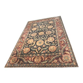 "Hand Knotted Indo-Agra Oriental Rug - 10' X 14'-4"" For Sale"