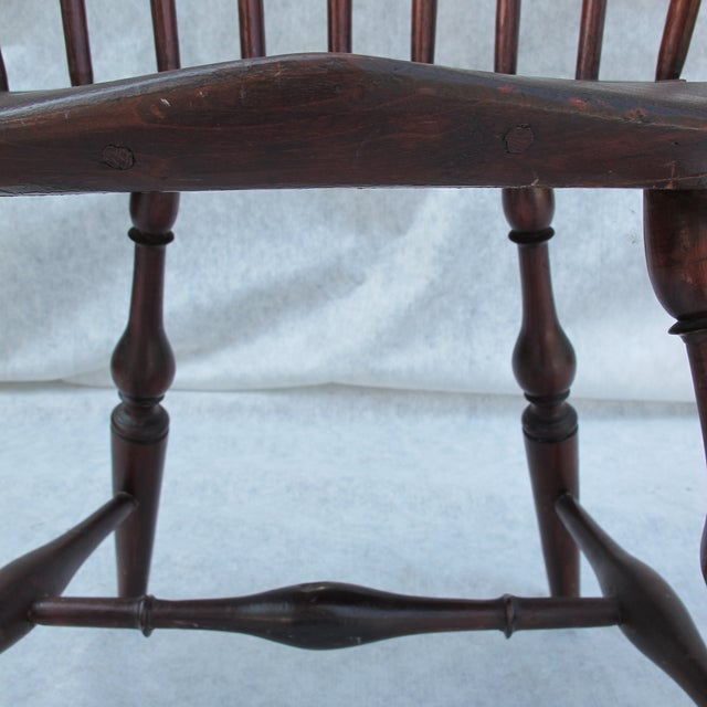 New England Bow-Back Windsor Arm Chair - Image 9 of 10