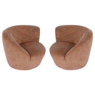 Vladimir Kagan Nautilus Swivel Chairs - a Pair For Sale