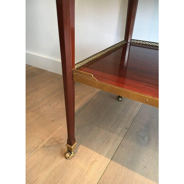 Mahogany and Brass Console Table Attributed to Maison Jansen - Image 5 of 11