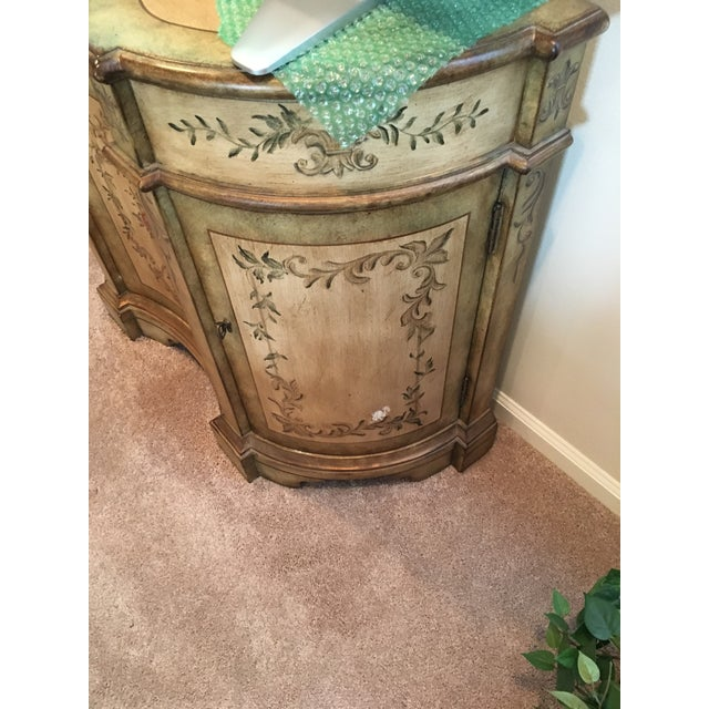 Pulaski Painted Console Cabinet For Sale - Image 4 of 4