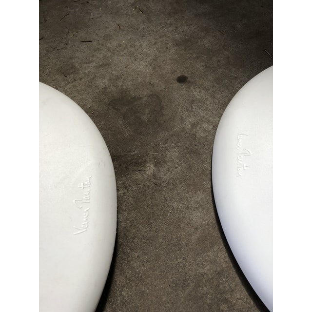Modern Vitra Panton Matte White S Chairs - A Pair For Sale - Image 12 of 13