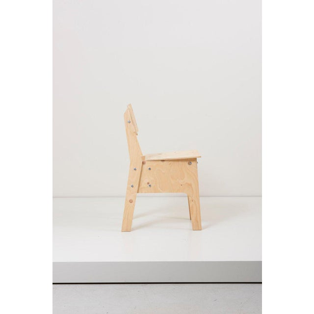 1 of 3 Crisis Chairs by Piet Hein Eek in Plywood For Sale - Image 9 of 13