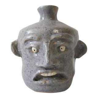 Folk Art Face Jug For Sale