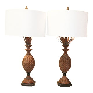 Pineapple Lamps - a Pair For Sale