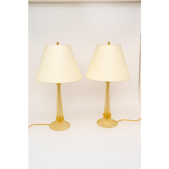 1930s Barovier & Toso Table Lamps, Circa 1930s - a Pair For Sale - Image 5 of 11