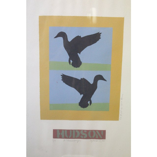 Abstract Flying Ducks Print For Sale - Image 4 of 6