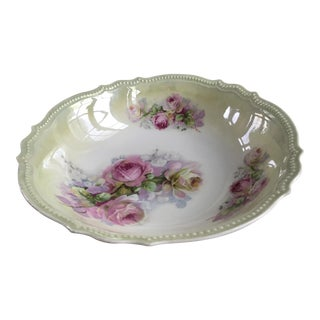 Antique Victorian Rose Porcelain Bowl
