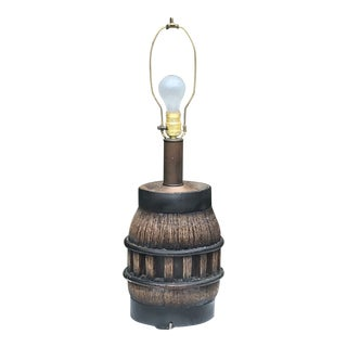 19th Century Wooden Wagon Wheel Lamp For Sale