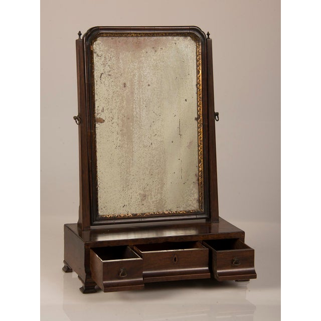 18th Century George III Period Mahogany Dressing Mirror For Sale - Image 4 of 8