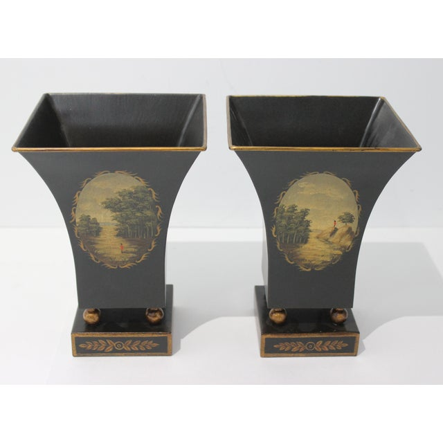 Vintage Dark Green Cachepot - a Pair For Sale - Image 9 of 9