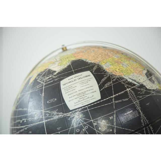 1960s Rand McNally Black Globe - Image 7 of 10