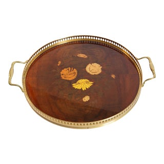 Vintage Mid-Century Italian Marquetry Tray For Sale