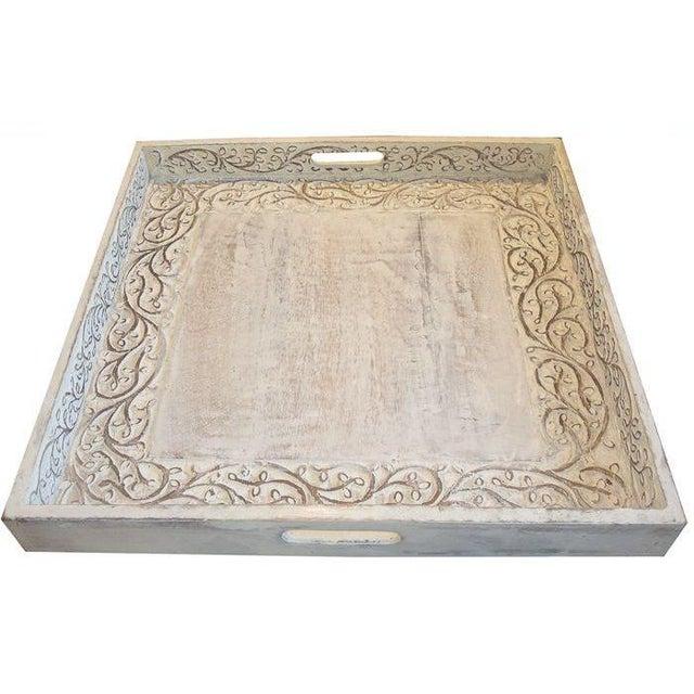Large Teak Carved Tray - Image 1 of 3