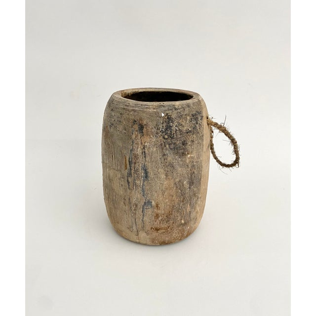 Rustic Hanging Rustic Wood Honey Pot For Sale - Image 3 of 6