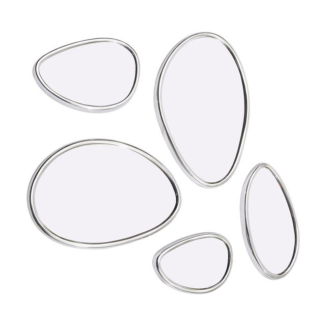 Pebbles Organic Mirrors with Adjustable Design - Set of 5 - Image 2 of 3