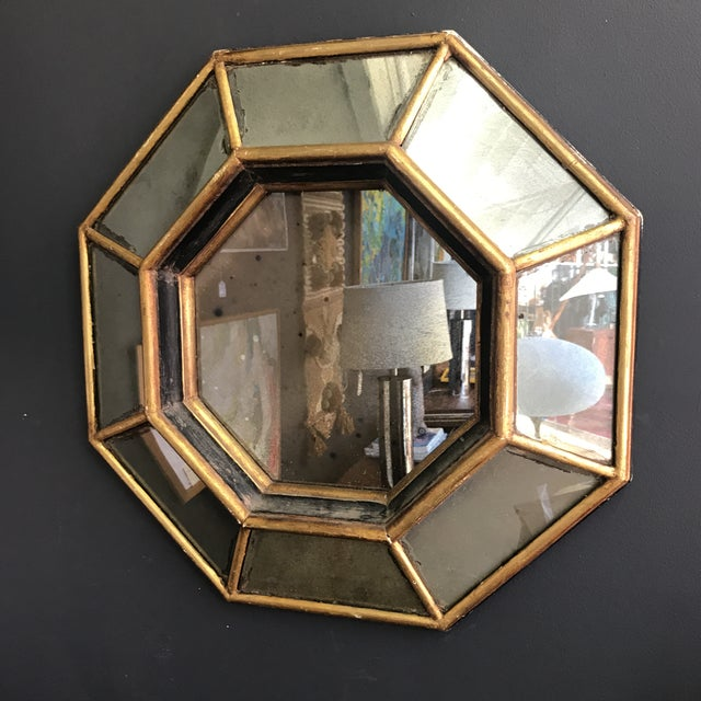 Vintage Octagonal Faceted Mirror For Sale - Image 5 of 5