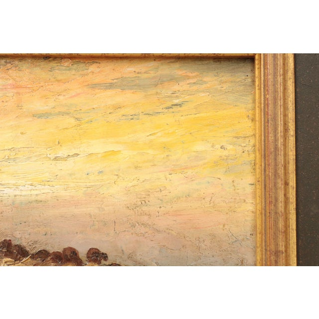 American Barbizon Painting of Sheep at Evening by Francis Wheaton For Sale - Image 5 of 11