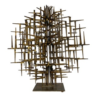 Mid 20th Century Brutalist Nail Sculpture For Sale