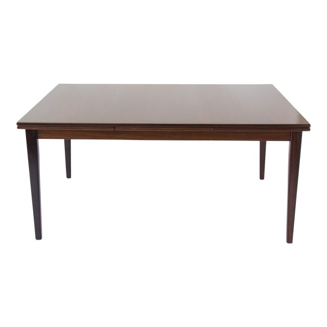 Rosewood Dining Table with Dutch Extension by Gudme For Sale
