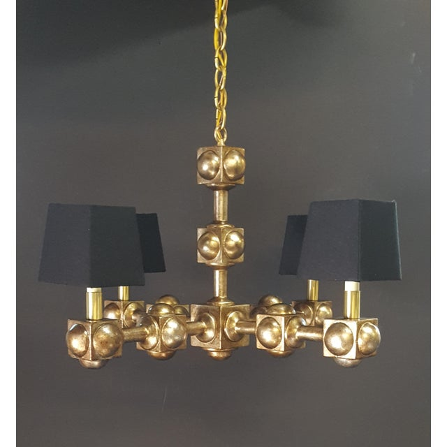 Paul Marra Foursquare Chandelier by Paul Marra For Sale - Image 4 of 11