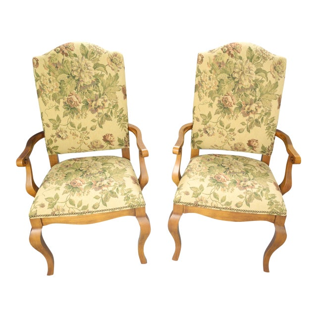 Ethan Allen Maison Dining Chairs - A Pair - Image 1 of 3