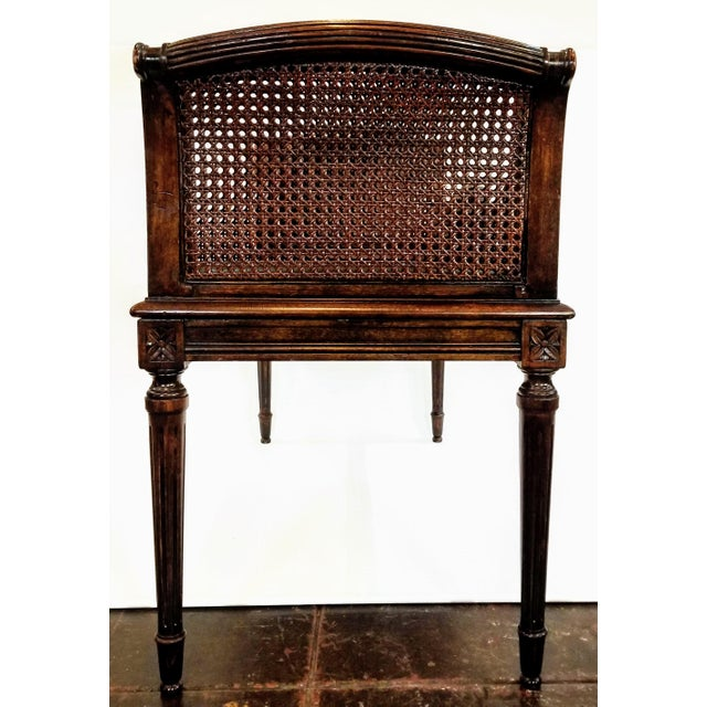 Antique Carved and Caned Window Settee With Neoclassic Motifs For Sale In San Diego - Image 6 of 10