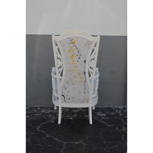 Vintage Mid-Century Hollywood Regency Style Chair For Sale - Image 12 of 13
