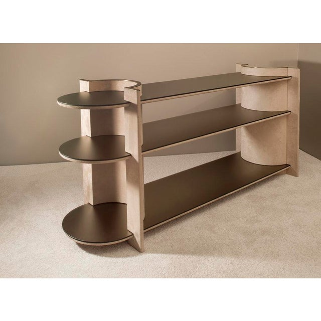 Not Yet Made - Made To Order Contemporary Torus Console Shelving, by Robert Sukrachand Made in Usa For Sale - Image 5 of 5