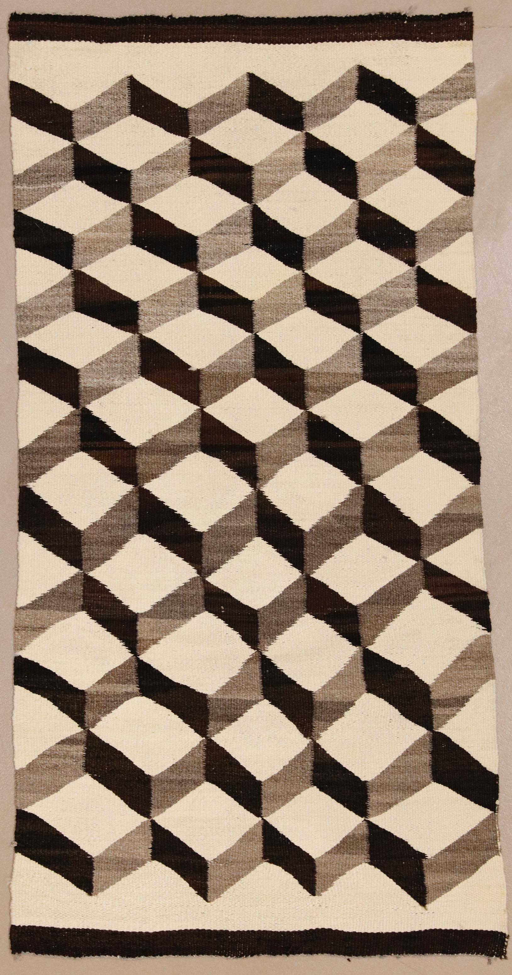 1920s Vintage Navajo Tumbling Blocks Rug 2 6 5 1 Chairish