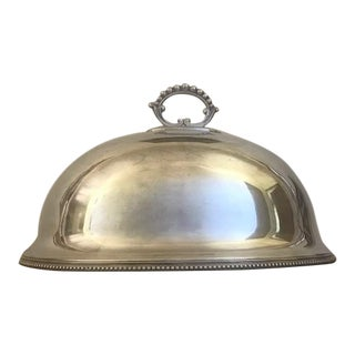 1880's Antique Sheffield Silver Food Dome For Sale