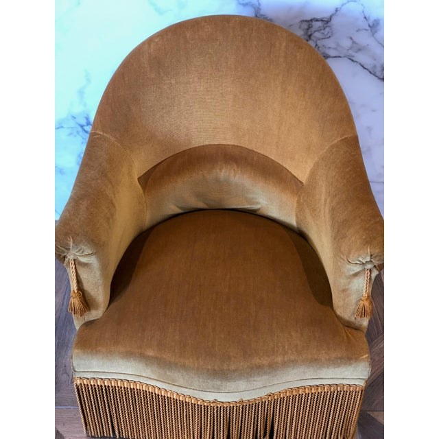 Yellow Velvet Crapaud Chair For Sale - Image 8 of 9