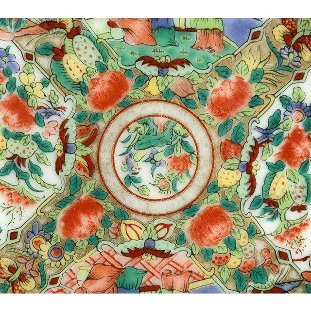 1970s Hong Horizons Canton Rose Individual Bowl - Set of 8 For Sale - Image 4 of 8