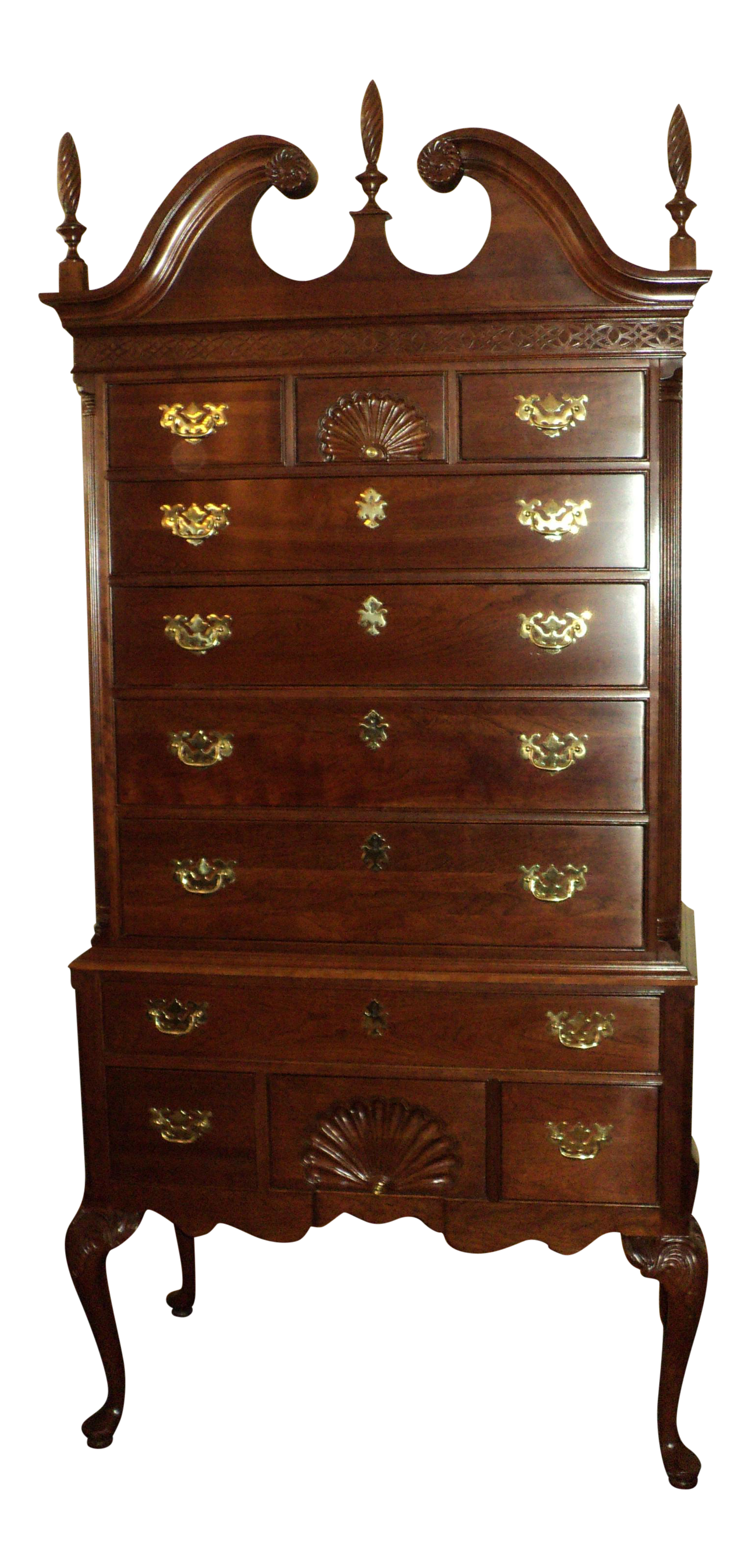 Ethan Allen Knob Creek Collection Queen Anne Solid Cherry ...