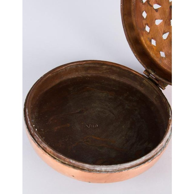 Late 19th Century Late 19th Century French Copper Bed Warmer For Sale - Image 5 of 13
