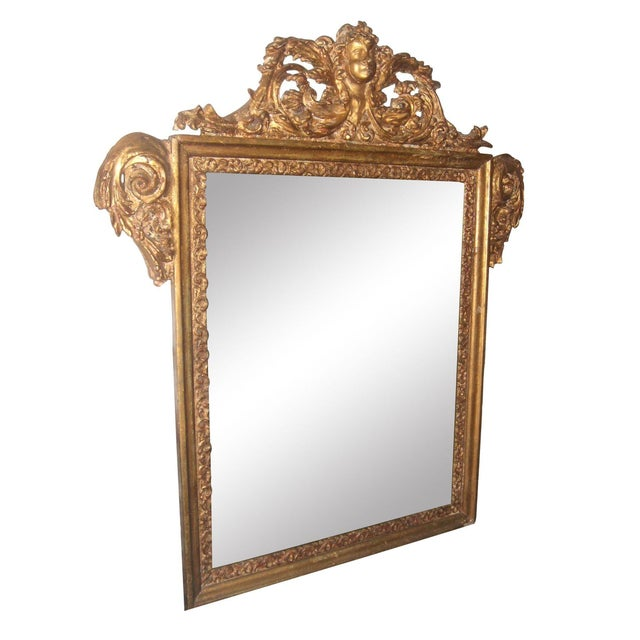 Antique Italian Gilt Cherub Mirror - Image 1 of 12