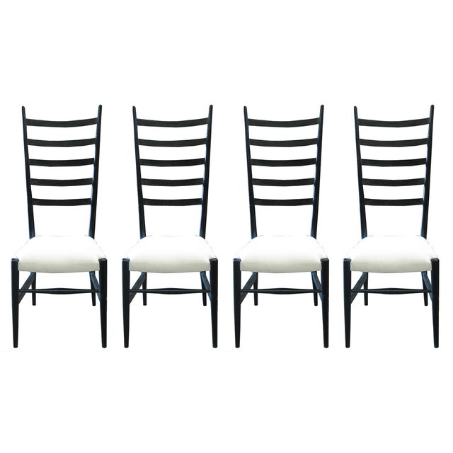 Ladder-Back Dining Chairs - Set of 4 - Image 1 of 3