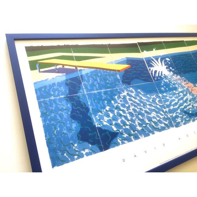 "1990s David Hockney Rare Vintage 1994 Iconic Lithograph Print Large Framed Poster "" Le Plongeur ( Paper Pool 18 ) "" 1978 For Sale - Image 5 of 13"