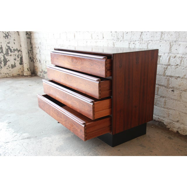 Wood Westnofa Norwegian Rosewood Bachelor Chest For Sale - Image 7 of 11