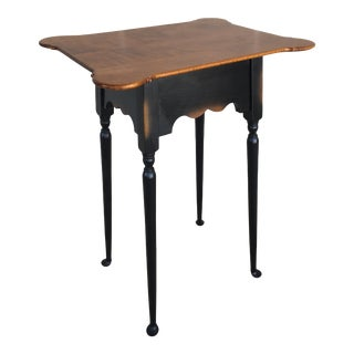 River Bend Ltd .Tiger Maple Accent Table For Sale