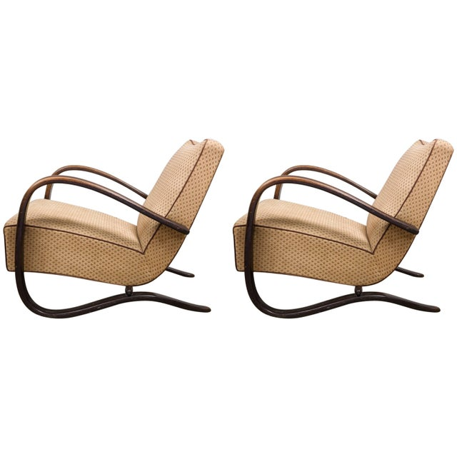 Art Deco Armchairs, Set of Two, Designed by Jindrich Halabala Model H269 L For Sale - Image 6 of 6